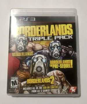 PS3 Borderlands Triple Pack for Sale in Los Angeles, CA