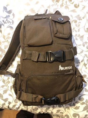 Burton The White Collection Backpack Snowboard Skateboard Brown Bag for Sale in Daly City, CA