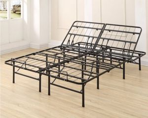 New Adjustable 14 in. Heavy Duty Metal Bed Frame, Full for Sale in Columbia, SC