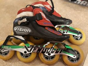 Simmons racing kids inline speed skates roller size 2 for Sale in Olympia, WA