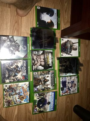 Xbox 1 games sound system for Sale in Horner, WV