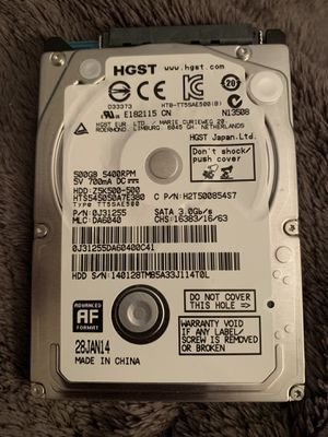 Laptop Hard Drive 500GB for Sale in Englewood, FL
