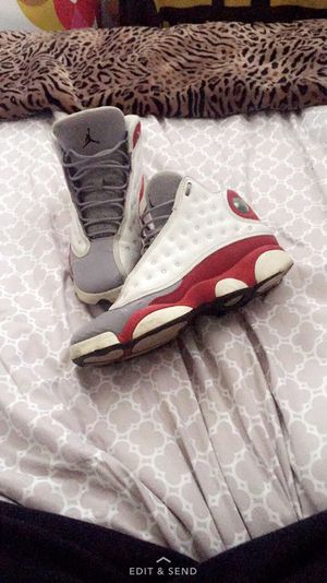 White red & grey air Jordan 13s for Sale in Pittsburgh, PA