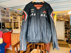 Men's ICON Automag Motorcycle Suzuki GSXR Leather Jacket Coat Size 3X L@@K for Sale in Everett, WA