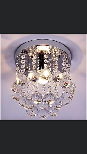 New Crystal Chandelier Pendant Ceiling Lamp light fixture . For entryway hallway living room bedroom dining closet for Sale in Los Angeles, CA