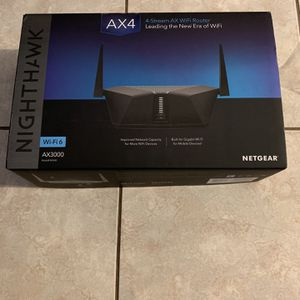 Netgear Nighthawk RAX40 AX4 AX3000 WiFi 6 Router Moden Gaming for Sale in Hermosa Beach, CA