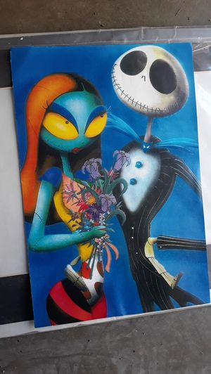 Jack and Sally Nightmare Before Christmas art picture for Sale in Long Beach, CA