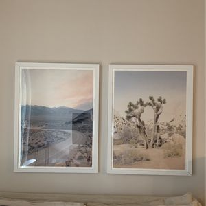 2 Desert Photo Prints With Frames for Sale in Los Angeles, CA