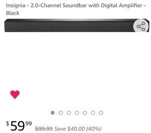 2.0-Channel Soundbar with Digital Amplifier - Black for Sale in Fort Washington, MD