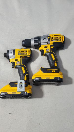 Dewalt 20V Max XR brushless Half inch Hammer drill Driver with 3ah battery. Also a new 1/4in Impact driver, xr brushless. for Sale in Avon, IN
