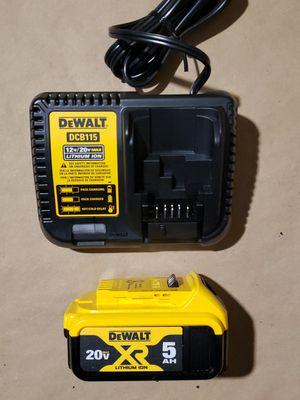 New Dewalt 20v 5ah Battery And Charger for Sale in Greenville, SC