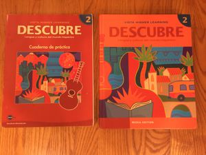 Descubre Spanish level 2 textbook and workbook for Sale in Renton, WA