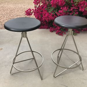 2 Contemporary wood /metal counter stools for Sale in Sun City, AZ