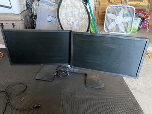 Dell Dual Computer Monitors for Sale in Dallas, TX