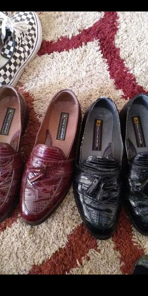 Men's dress shoes size 9 pick up only both sold together for $40 for Sale in Tempe, AZ