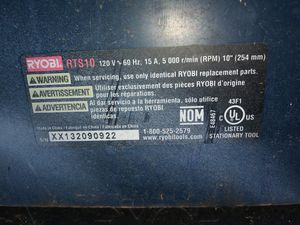 Ryboli table saw with legs for Sale in Oklahoma City, OK