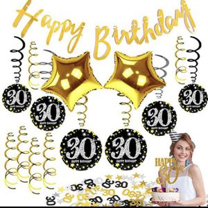 30th Birthday Decorations Balloons For Men Women Party Supplies Dirty Thirty Banner Happy 30 Bday for Sale in Hacienda Heights, CA