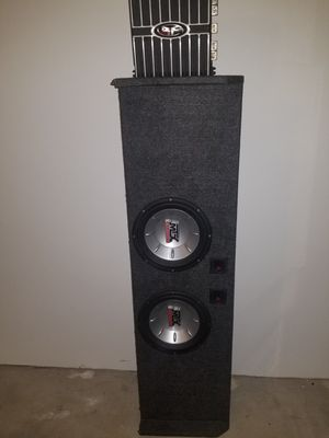 Ford F150 custom 10 inch subwoofer box 300 watt Rockford Fostgate amplifier for Sale in Southfield, MI