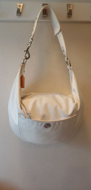 Coach Hampton Sateen ivory hobo bag for Sale in Columbus, OH