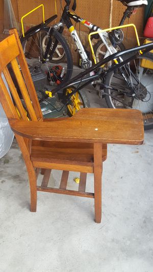 Vintage school desk wood and surfaces are good condition for Sale in Columbus, OH