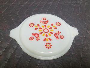 Pyrex friendship birds white milk glass lid - ( marked 20-C 8 ) for Sale in Tarentum, PA
