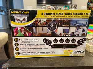 Night Owl 8 channel video security cameras for Sale in Staten Island, NY