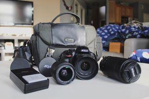 Nikon D3400 Body + 3 Lenses + Accessories for Sale in Aldie, VA