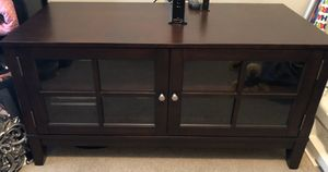 Espresso TV Stand or Entryway Table for Sale in Broken Arrow, OK