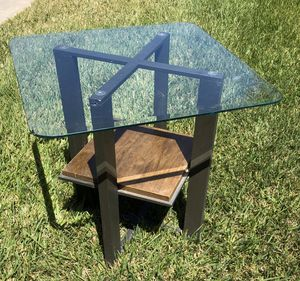 UNIQUE! Metal & glass top table! Sturdy! for Sale in Oceanside, CA