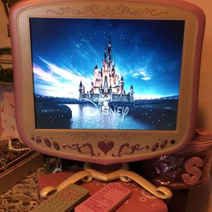 Disney Princess Tv/ Computer Monitor And Capezio DVD Player for Sale in Buffalo, NY
