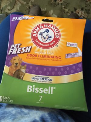 Arm & Hammer Pet Fresh Vacuum bags Bissell sz 7 for Sale in Wethersfield, CT