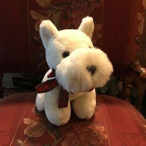 "New Plush WESTIE Puppy Dog Stuffed Animal Soft 11"" NEW Tartan Ribbon Bow for Sale in Brooklyn, NY"