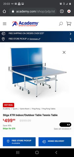 STIGA XTR Indoor/Outdoor tennis table for Sale in Griffin, GA