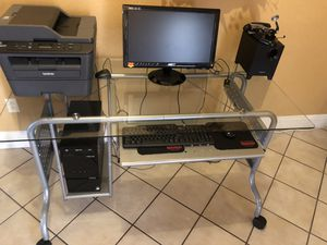 Clear See Through Rolling Desk for Sale in Las Vegas, NV