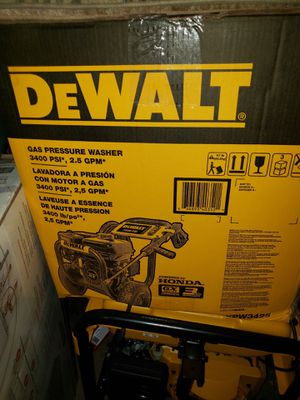 DeWALT Gas pressure washer 3400 psi brand new ! for Sale in Brooklyn, NY