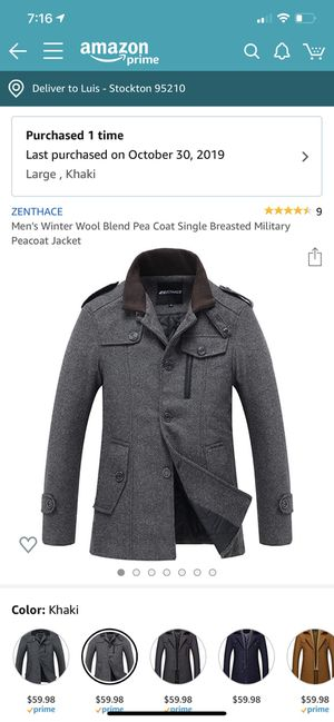 Pea coat large size for Sale in Stockton, CA