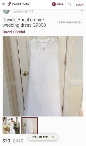 David's Bridal Wedding dress Size 16 !!!! for Sale in Aurora, IL