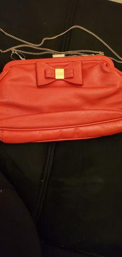 Burnt Orange Colored Clutch Hanbag W/gold Chain Shoulder Strap for Sale in Pensacola,  FL