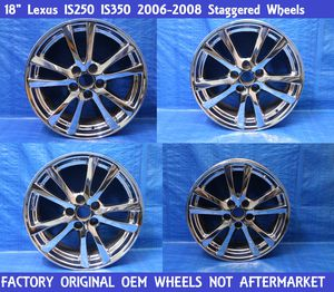 "✅ 2006-2008 Lexus Is Is250 Is350 18"" Staggered Wheels Rims set Chrome OEM 8.5"" 8"" for Sale in Miramar, FL"