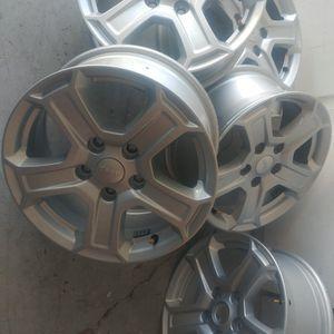 Like new set of five 5x5 17x7 jeep wheels.. 07'-19' for Sale in Las Vegas, NV
