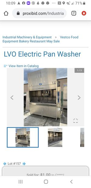 LVO ELECTRIC PAN WASHER MODEL FL36ET for Sale in Escondido, CA