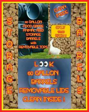 💥BARRELS💥 REMOVABLE TOPS💥60-50 GAL. 💥FEED💥WATER💥STORAGE💥USE THEM FOR ANYTHING!💥 for Sale in Goldsboro, NC