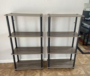 Multipurpose Shelves Grey/Black for Sale in Las Vegas, NV