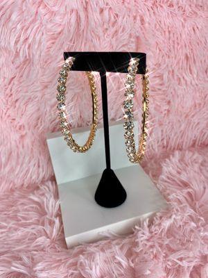 Diamond Hoop Earrings for Sale in Miami, FL