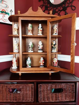 Curio Cabinet and Santas Together for Sale in Stafford, VA