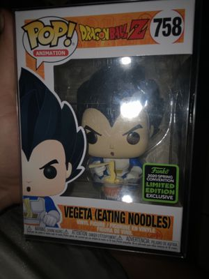 Funko Pop Vegeta (eating noodles) from Dragonball Z 2020 spring convention limited edition for Sale in Phoenix, AZ