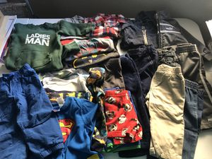 Lot of 22 Baby boy 12 month clothing, onesies, long sleeve shirt, PJs, snow pants, jeans, athletic wear, dress shirt for Sale in Phoenix, AZ