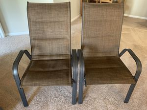 2 Patio Chairs in very good condition for Sale in Fairfax, VA