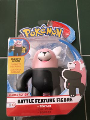 $12 Pokemon Bewear Battle Feature Figure With Deluxe Hugging Action for Sale in Las Vegas, NV