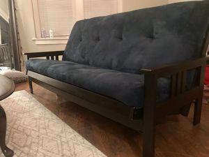 Navy suede futon for Sale in Nashville, TN